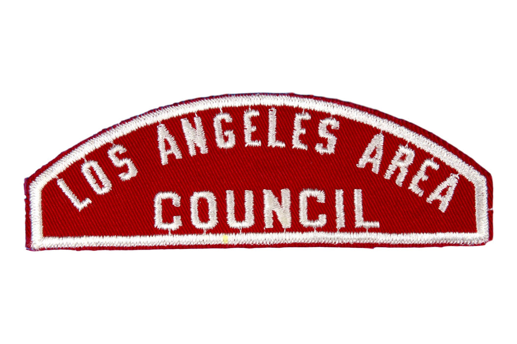 Los Angeles Area Red and White Council Strip