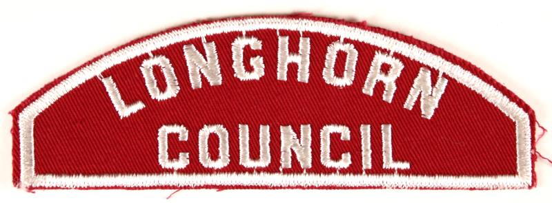 Longhorn Council Red and White Council Strip