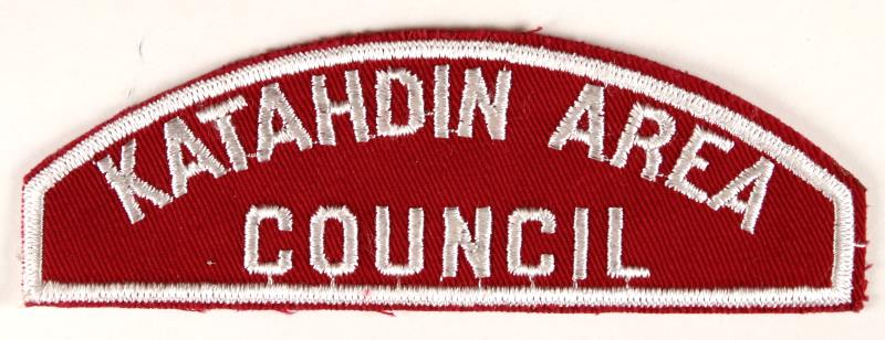 Katahdin Area Council Red and White Council Strip