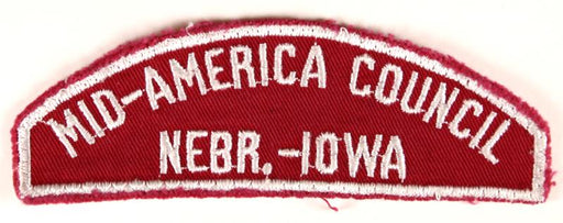 Mid-America Council Red and White Council Strip