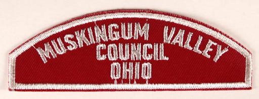 Muskingum Valley Council Red and White Council Strip