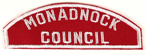 Monadnock Council Red and White Council Strip