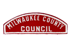 Milwaukee County Council Red and White Council Strip