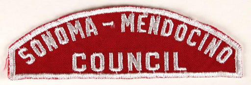 Sonoma - Mendocino Council Red and White Council Strip