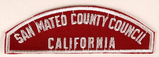 San Mateo County Council Red and White Council Strip