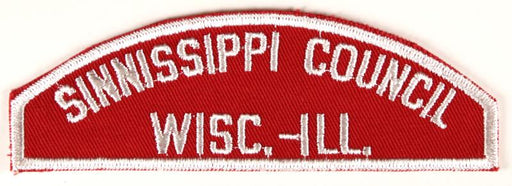 Sinnissippi Council Red and White Council Strip