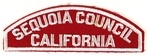 Sequoia Council Red and White Council Strip