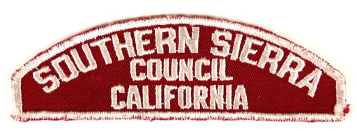 Southern Sierra Red and White Council Strip