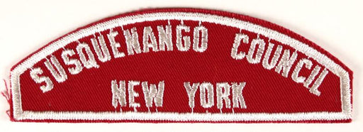 Susquenango Council Red and White Council Strip