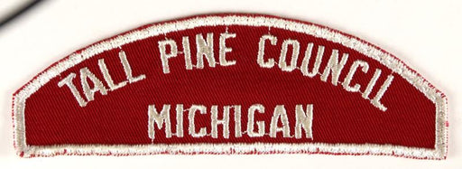 Tall Pine Council Red and White Council Strip