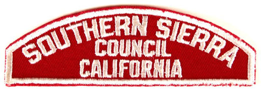 Southern Sierra Council Red and White Council Strip