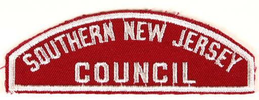 Southern New Jersey Council Red and White Council Strip