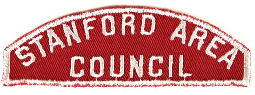 Stanford Area Council Red and White Council Strip