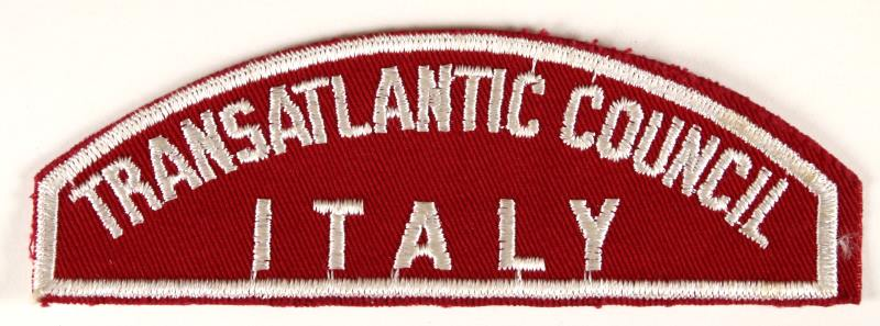 Transatlantic Council/Italy Red and White Council Strip