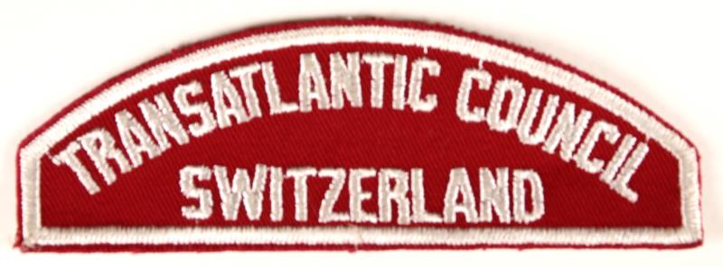 Transatlantic Council/Switzerland Red and White Council Strip