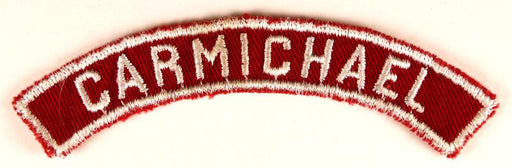 Carmichael Red and White City Strip