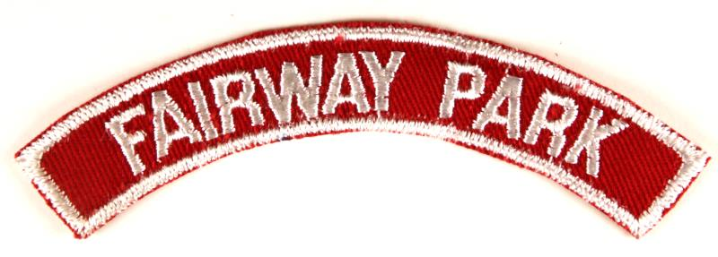 Fairway Park Red and White City Strip