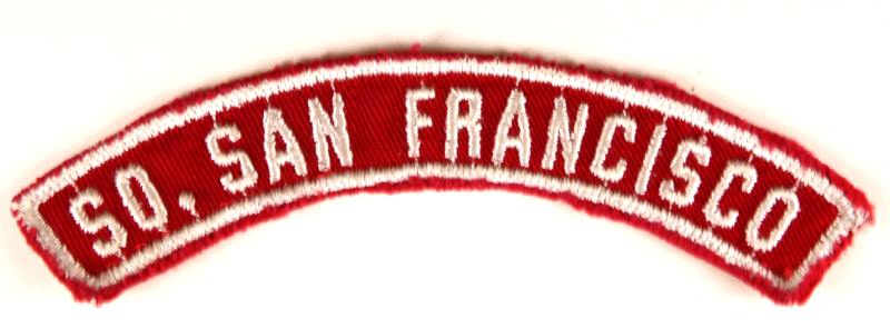 So. San Francisco Red and White City Strip