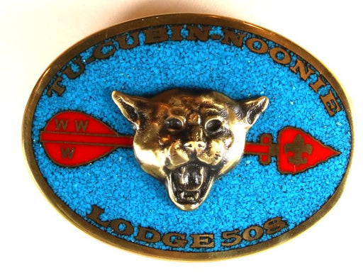 Lodge 508 Belt Buckle Turquoise Inlay