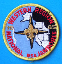 1985 NJ Western Region Patch Yellow Border