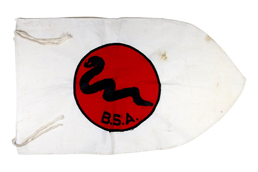 Rattle Snake Patrol Flag Red on White
