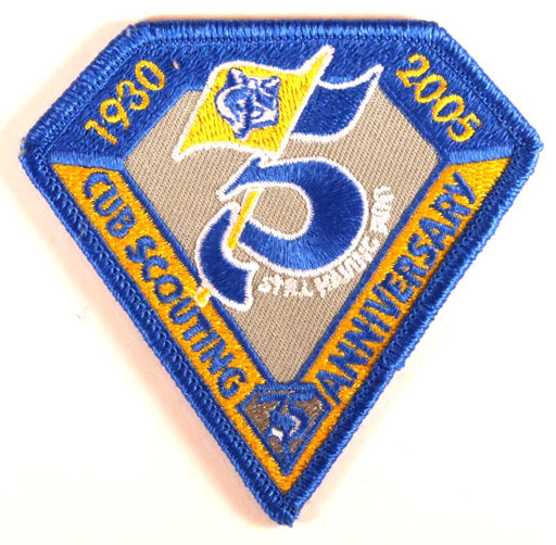 2005 Cub Scout Anniversary Patch Blue Border