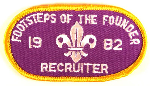 1982 Footsteps of the Founder Patch