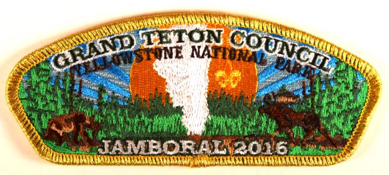 Grand Teton CSP SA-New Jamboral 2016 Gold Mylar Border