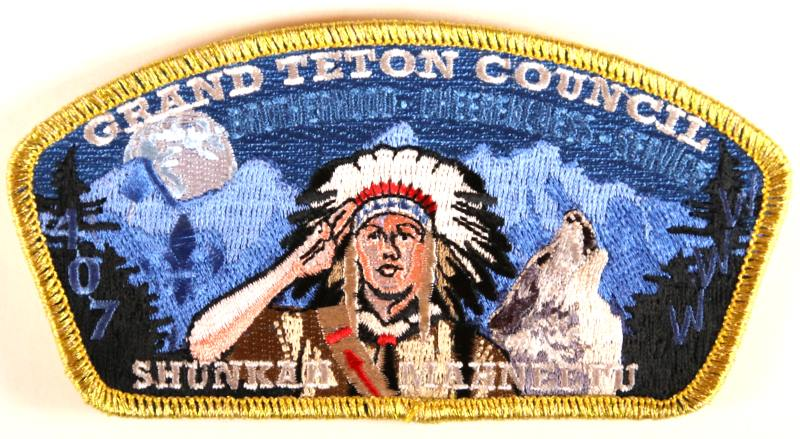 Grand Teton CSP SA-New Lodge 407 Gold Mylar Border