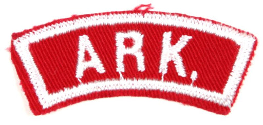 Arkansas Red and White State Strip