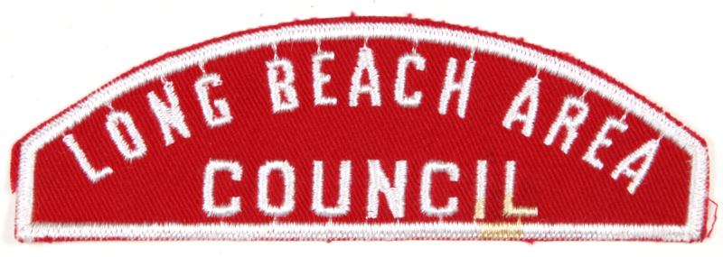 Long Beach Area Red and White Council Strip