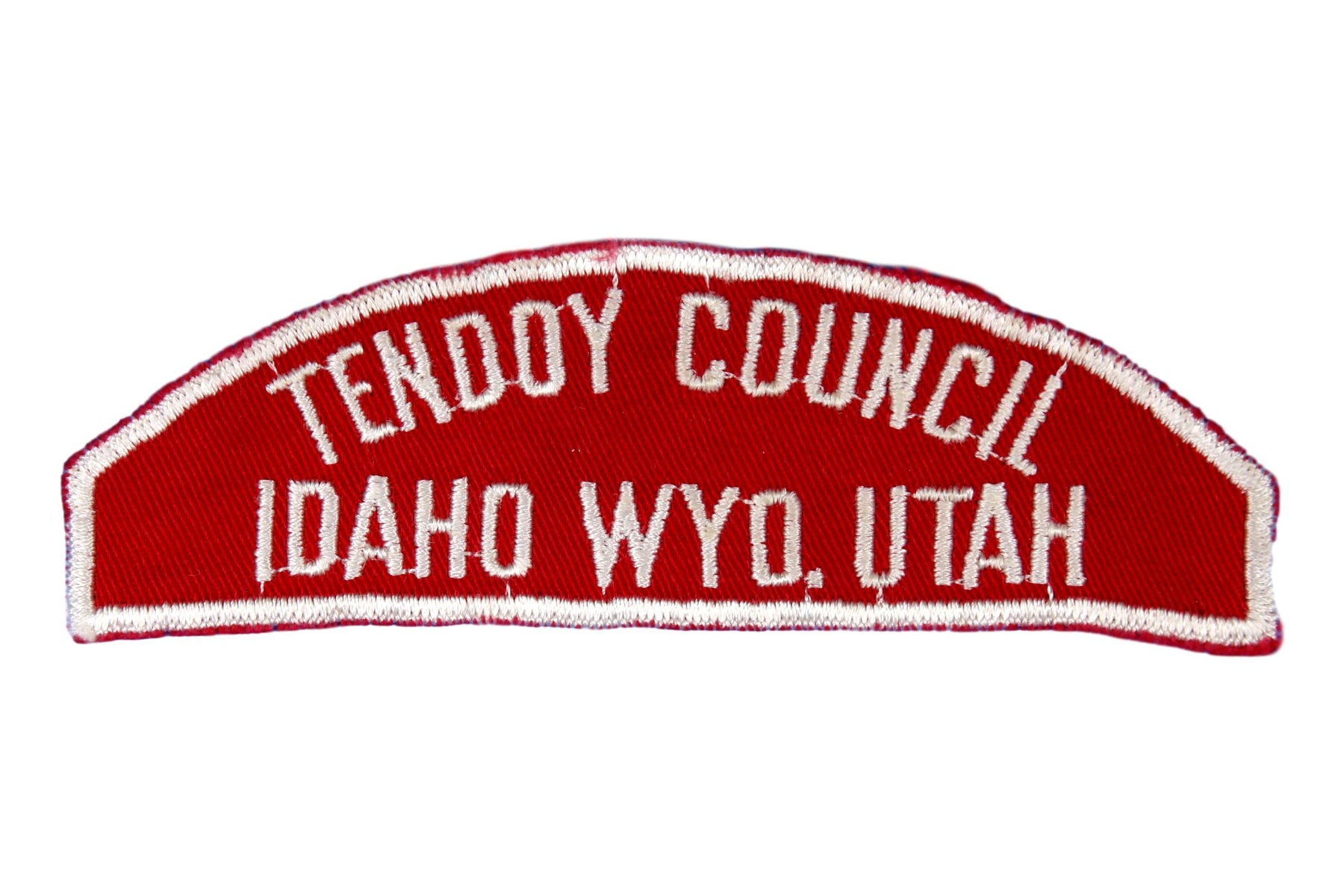 Tendoy  Red and White Council Strip