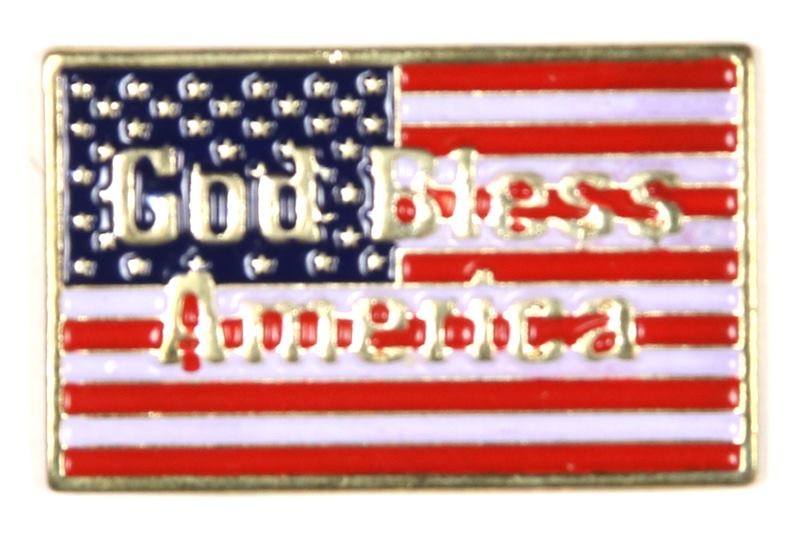 God Bless America Flag Pin Boy Scout Store