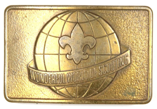 Scouting Around the World Belt Buckle