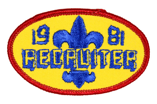 Recruiter Patch 1981
