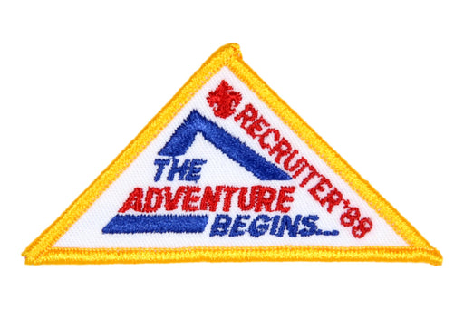Recruiter Patch 1988 The Adventure Begins