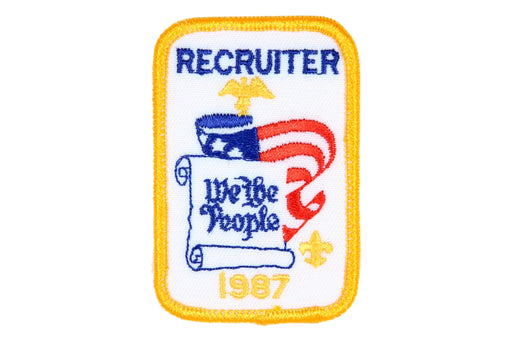 Recruiter Patch 1987