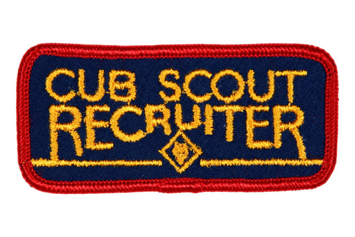 Recruiter Patch Cub Scout Recruiter