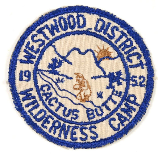 1952 Westwood District Wilderness Camp Patch