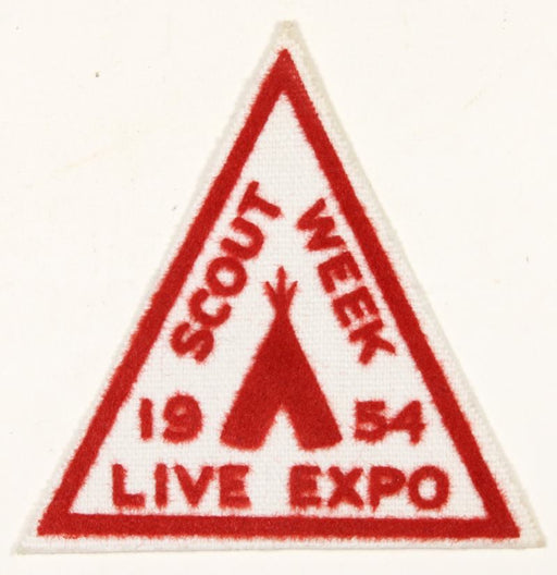 1954 Scout Week Live Expo Patch