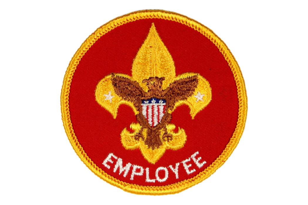 Employee Patch 1970s with White Lettering