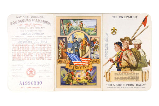 1941 Registration Card Tri-Fold Associate Scout