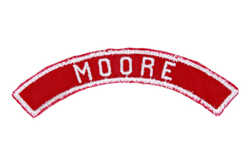 Moore Red and White City Strip