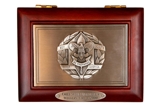 Chief Scout Executive's Winners' Circle 2000 Letter Opener and Cherrywood Box