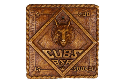 A Cub is Square Plaque 1930s