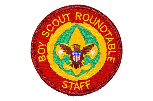 Boy Scout Roundtable Staff Patch Red Mylar