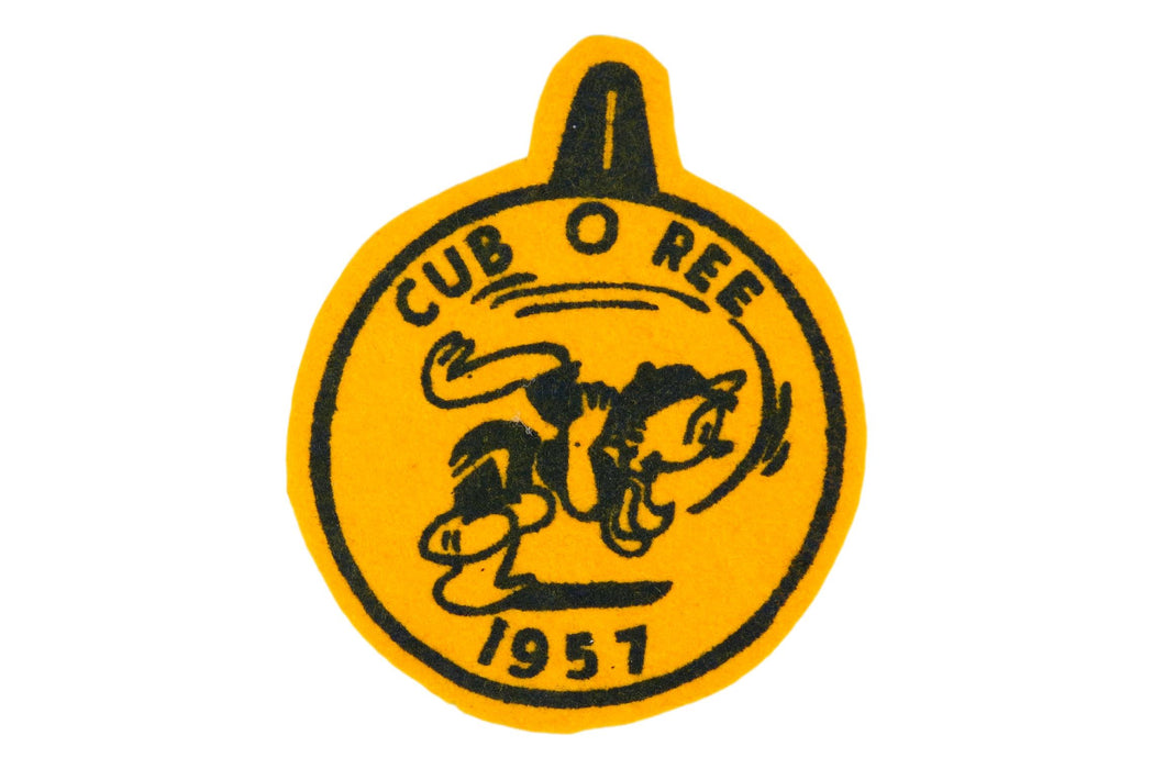 1957 Cub O Ree Felt Patch