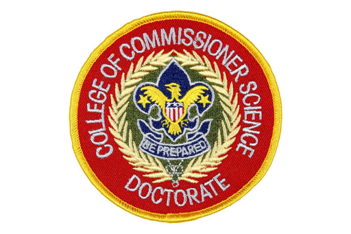 College of Commissioner Science Doctorate Patch 4""