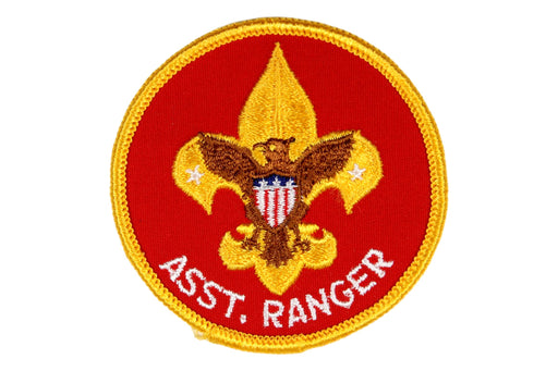Assistant Ranger Patch 1970s White Lettering