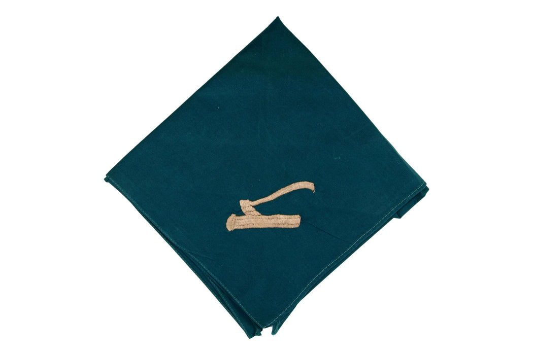 "Wood Badge Neckerchief ""Greenie"" 1950s-1960s"